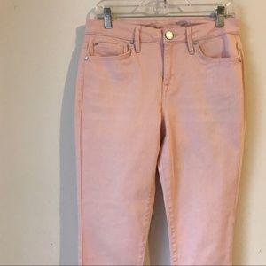 Seven7 Pale Pink Raw Hem Denim Jeans AH